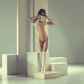 Color and light by Dmitry Laudin - Nudes & Boudoir Artistic Nude ( studio, figure, nude, girl, beautiful, light, geometry )