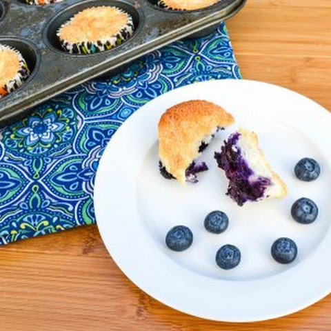 Blueberry Pineapple Angel Food Muffins