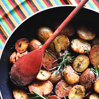 Pan fried Baby Potatoes with fresh Rosemary