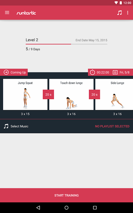 Runtastic Leg Workout Trainer Screenshot 13