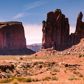Road Through Monument Valley by Chad Roberts - Landscapes Deserts ( monument valley, desert, chad roberts, john wayne, arizona, chadseyes, indian, image, chadroberts.blogspot.com, landscape, photography )