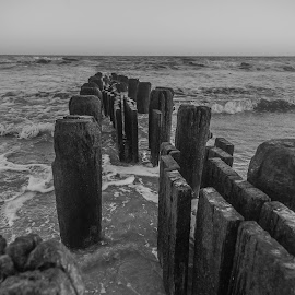 Standing Still by Laura Gardner - Novices Only Landscapes ( sand, outdoors, sea, atlantic city, atlantic, nj )