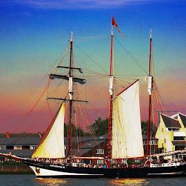 Tall Ship by Joaquim Ribeiro - Transportation Boats ( london, ship, greenwich,  )