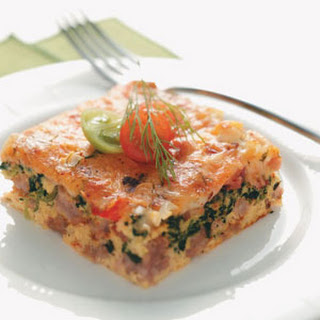 Spinach & Sausage Egg Bake