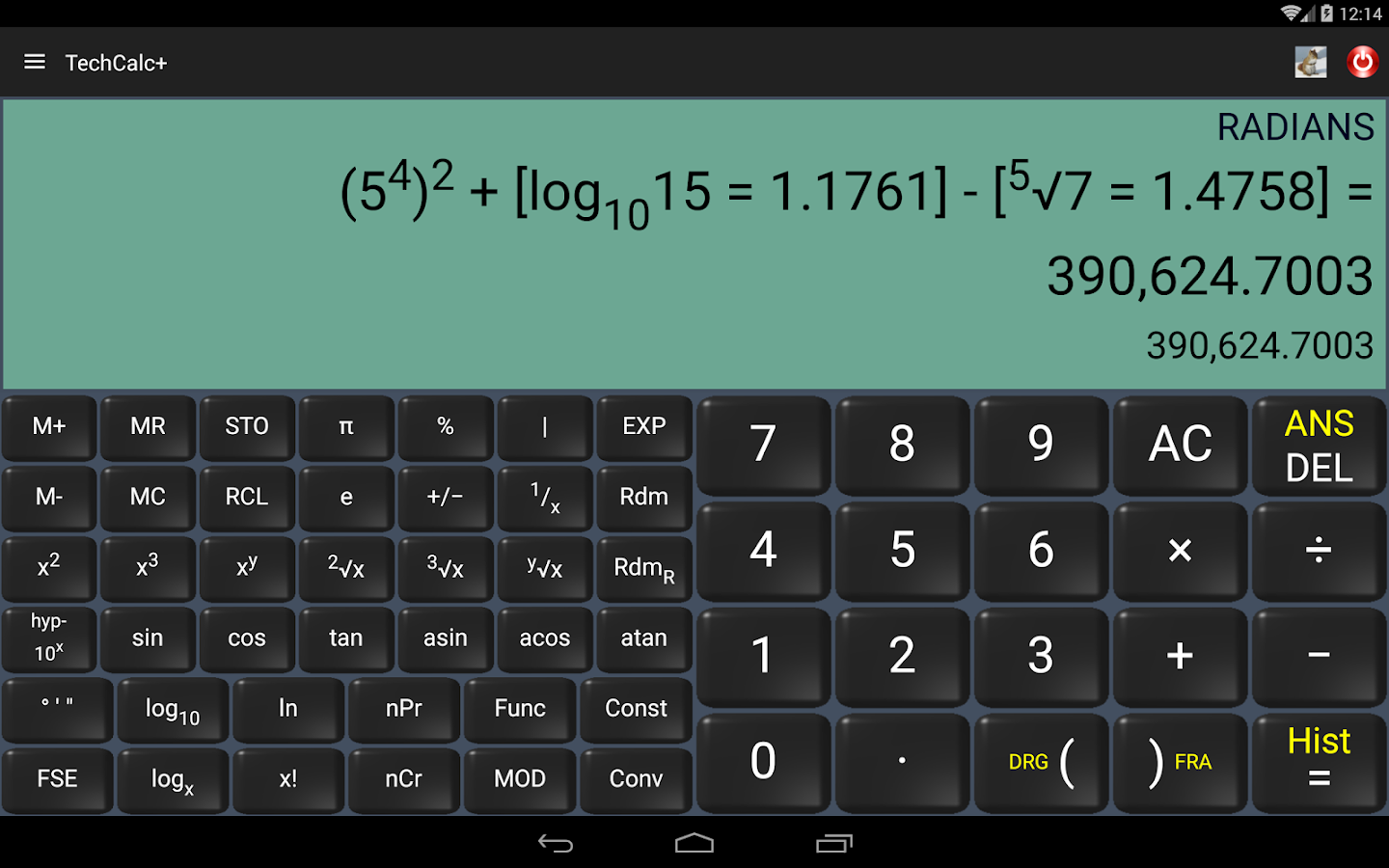 Scientific Calculator (adfree) Screenshot 8