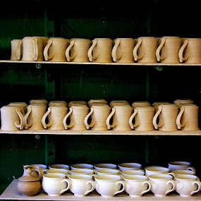 Potters Shelf by Martin Stepalavich - Artistic Objects Cups, Plates & Utensils