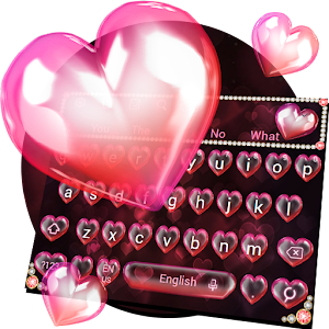 Download Red Love Diamond Keyboard Theme For PC Windows and Mac