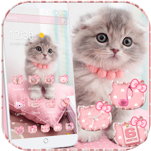 Pink Cute Kitty Cat Theme For PC