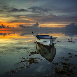 Identity by Choky Ochtavian Watulingas - Landscapes Waterscapes ( bali, sky, seaweeds, waterscape, sea, cloud, beach, sunrise, seascape, boat, landscape )