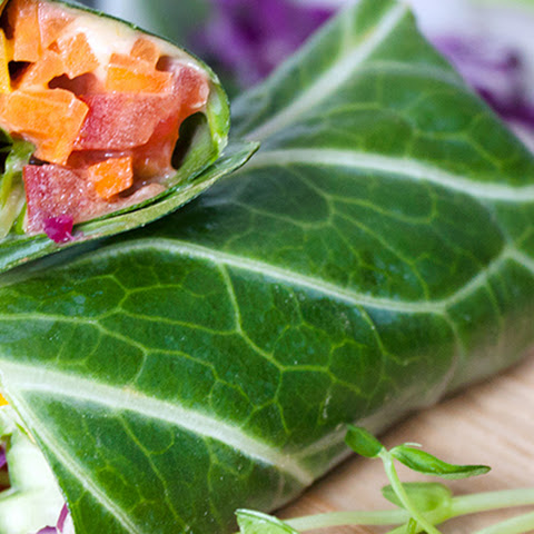 Raw Rainbow Collard Greens Wrap