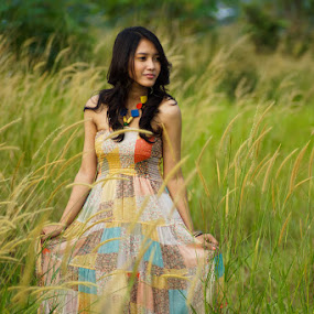 Afternoon on Prairie  by Deddy Dwianto - People Portraits of Women