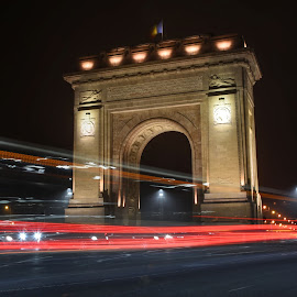 Arc de Triomphe by Aura Vasile - City,  Street & Park  Night