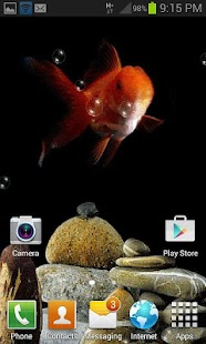Cute Fish Bubble LWP - screenshot