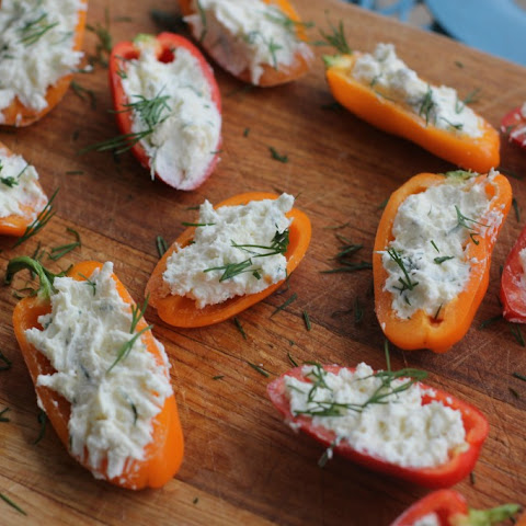 Creamy Feta Stuffed Peppers