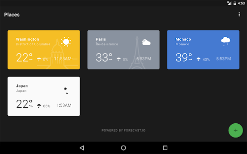 Weather Timeline - Forecast Screenshot