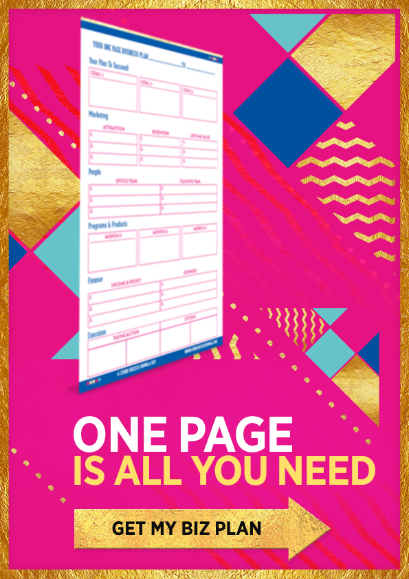 For the first time ever you can download our free one page the 1 page business plan for dance studio owners wajeb