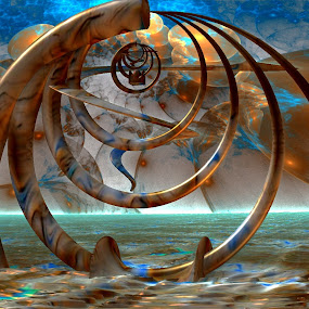 That Is Somber by Rick Eskridge - Illustration Abstract & Patterns ( abstract, jwildfire, mb3d, fractal, twisted brush )