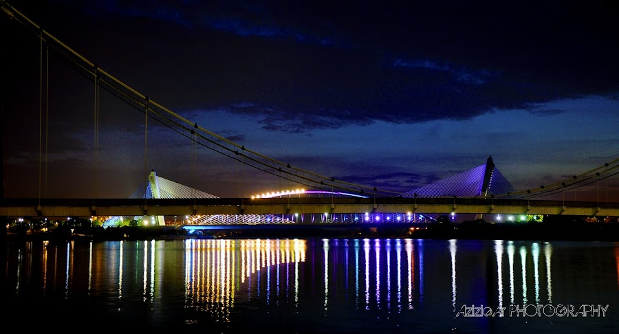 the night putrajaya by Azizie Ar - Landscapes Waterscapes