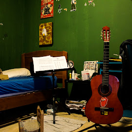 Guitarra by Breno Teixeira - Artistic Objects Musical Instruments ( música, music, quarto, adolescente, guitarra )