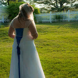 Sunlit Bride by Chris Cavallo - Wedding Bride ( wedding photography, maine, wedding gown, weddings, wedding day, wedding, bride, golden hour )