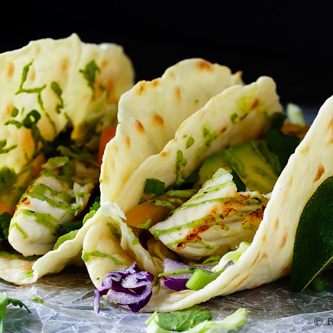 Fish Tacos with Avocado Cream