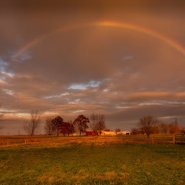 Rainbow Connection by Linda Karlin - Landscapes Weather ( rainbow, landscape,  )