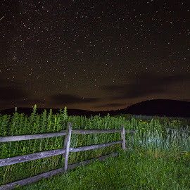 West Virginia Nights by Kevin Frick - Landscapes Starscapes ( mountians, night, stars )