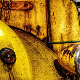 Rusty by Ana Paula Filipe - Transportation Automobiles ( car, old, rusty, yellow, part )