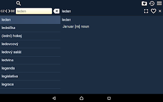Screenshot of Czech German Dictionary Free