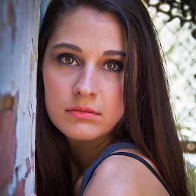 Jackie #2 by Barry Blaisdell - People Portraits of Women ( brown eyes, model, woman, beautiful, brunette, pretty, portrait )