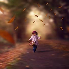by Laura Dawe - Digital Art People ( girl, autumn, smile )