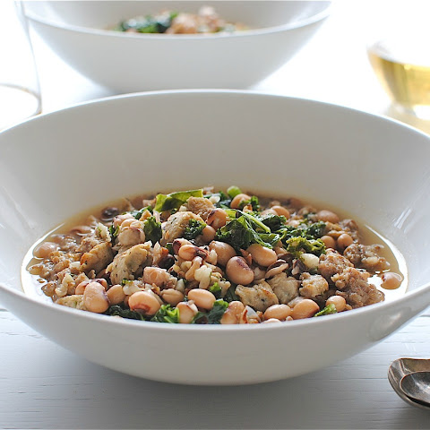Sausage, Kale and Black-Eyed Peas Soup
