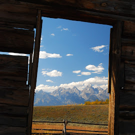Shane in the Tetons. by Harry Goodman - Buildings & Architecture Other Exteriors