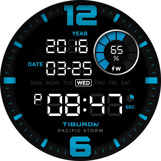 Pacific Storm watchface by Tib Screenshot 5