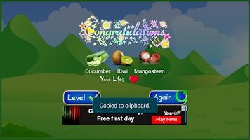 Screenshot of Fruit Memory Game For Kids