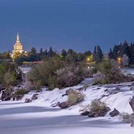 Mormon Temple, Idaho Falls Idaho by Dan Kinghorn - Buildings & Architecture Places of Worship ( temple, idaho, snake river, mormon temple, idaho falls idaho )