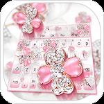 Glittering Diamond Flower Keyboard Icon