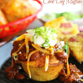 Chili Cheese Corn Dog Muffins
