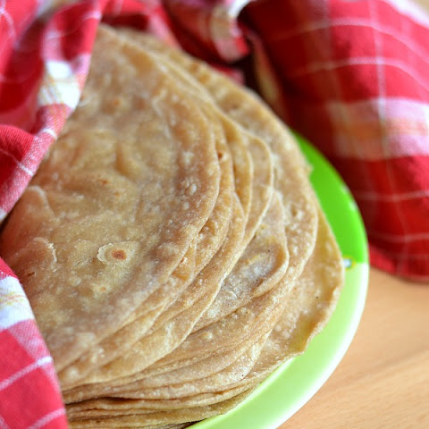 Homemade Vegan Whole Wheat Flour Tortillas