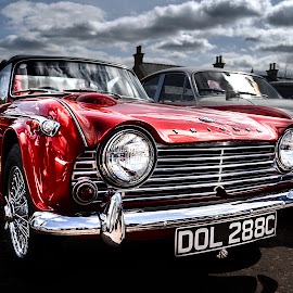 by Andrew Percival - Transportation Automobiles ( car, old, sky, classic car, hdr, colors, reflections )