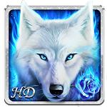 Arctic Wolf Live Wallpaper Icon