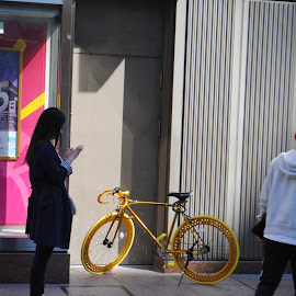 All gold everything by Benjamin Salazar - Transportation Bicycles ( fixie, japan, bike, gold )