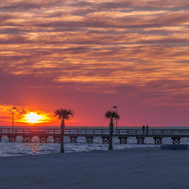 Another Beatiful sunset in Biloxi MS by Shutter Bay Photography - Landscapes Sunsets & Sunrises ( clouds, sunset, pier, beach sunset, beach )