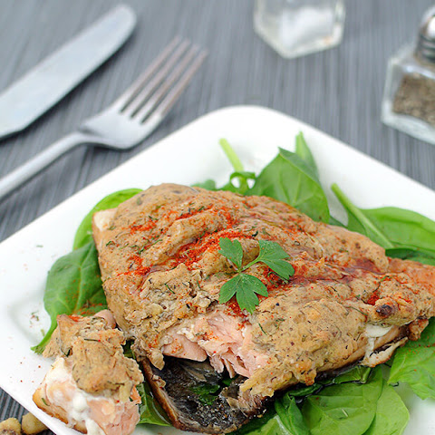 Low Carb Walnut Crusted Salmon