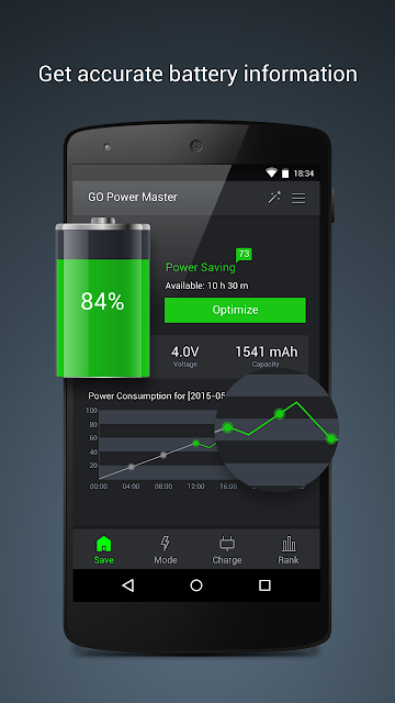 GO Battery Saver &Power Widget screenshots