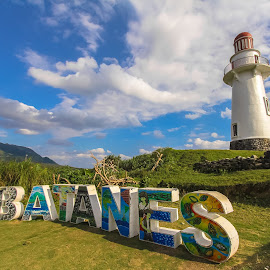 I Love Batanes Philippines by Gabz Alvin - Artistic Objects Signs ( hills, mountain, lighthouse, batanes, travel, landscape, photography, mountains, sky, nature, landscape photography, philippines, travel photography )
