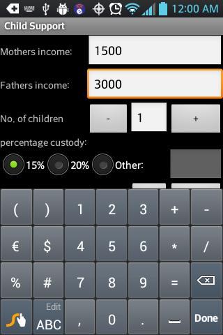 Advanced VA Child Support Calculator for Sole Custody