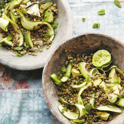 Lentil, Zucchini, and Mint Salad from Deliciously Ella