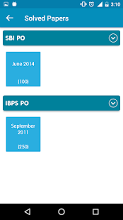 IBPS PO Previous Year Papers - screenshot
