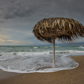 Marooned by Lucian Satmarean - Landscapes Beaches ( clouds, wind, waves, sea, beach )